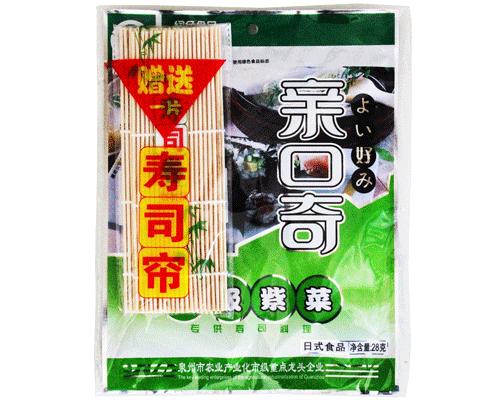北京亲口奇一级紫菜专供寿司新包装(净含量:28g)(赠送寿司帘)