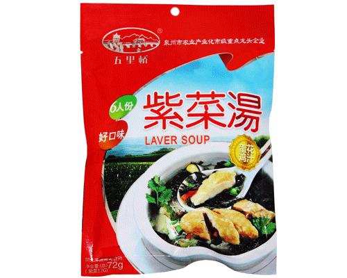 五里桥蛋花鸡汤紫菜汤(净含量:72g)