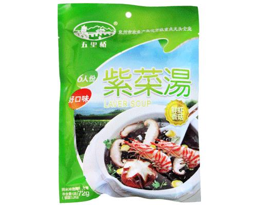 五里桥鲜虾香菇紫菜汤(净含量:72g)